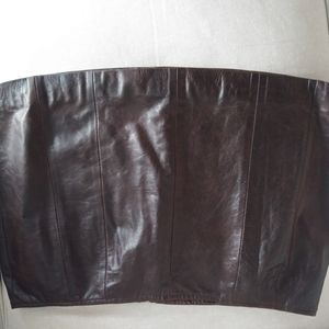 NWOT Brown soft leather skirt